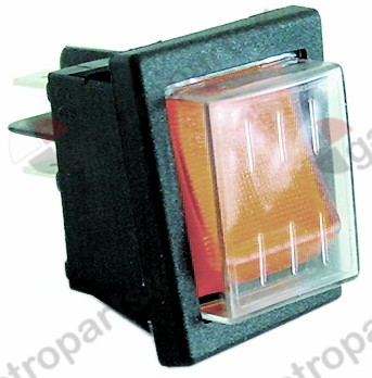 301.162, Replaced by 301018 / 301036 / momentary rocker switchmounting measurements 30x22mm orange 2NO 250V 16A