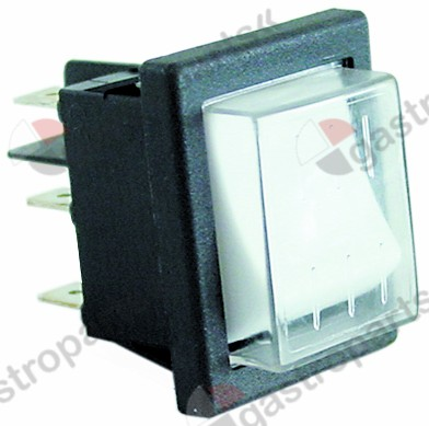 301.163, momentary rocker switch mounting measurements 30x22mm white 2NO 250V 16A