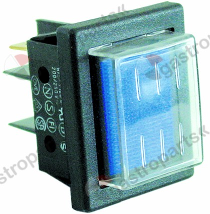 301.166, indicator light mounting measurements 30x22mm 230V blue