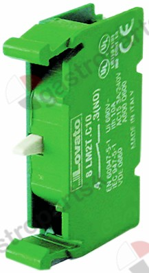 301.170, contact block LAVATO 8 LM2T-C10 1NO max 690V 10A