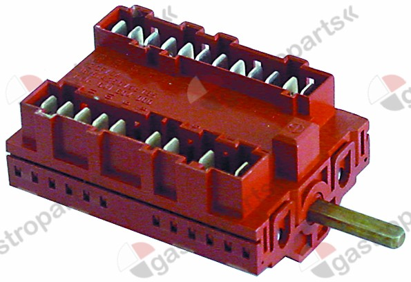 301.185, operation switch 3 operating positions sequence 1-0-2 16A shaft ø 6x4.6mm shaft L 23mm
