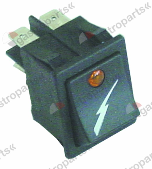301.189, Replaced by 346108 / rocker switch mounting measurements 30x22mm orange2NO 250V 16A illuminated power