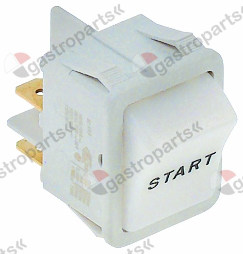 301.717, momentary rocker switch 30x22mm white 1NO 250V 16