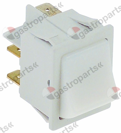 301.718, momentary rocker switch 30x22mm white