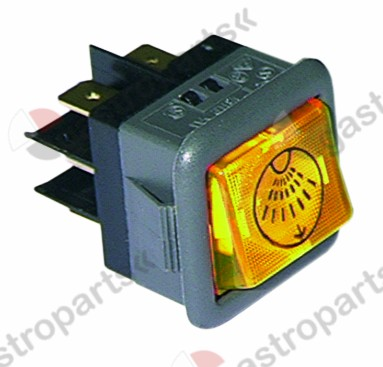 345.014, momentary rocker switch mounting measurements 27.8x25mm orange 2CO 250V