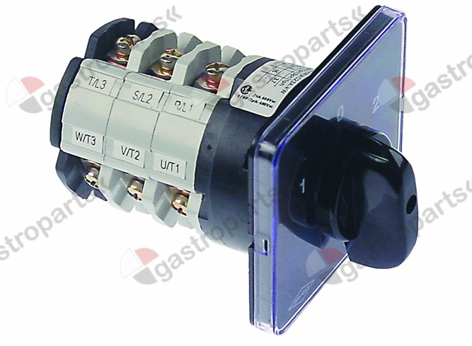 345.026, rotary switch 3 1-0-2 sets of contacts 6 type CS0257088 600V 32A shaft ø 5x5mm shaft L 23mm