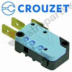 345.042, microswitch with plunger 250V 16A 1CO connection male faston 6.3mm L 28mm