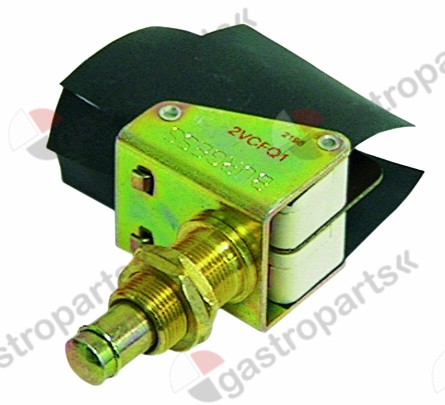 345.048, microswitch with plunger thread M12 thread L 16,5mm 250V 10A 2CO
