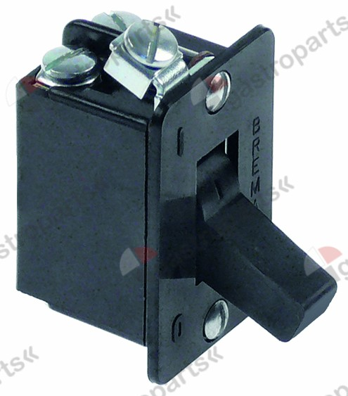 345.051, toggle switch 2NO 400V 10A connection screw hole distance 34mm