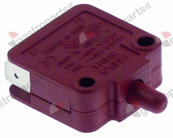 345.062, microswitch with plunger 250V 16A 1NO/1NC connection male faston 6.3mm
