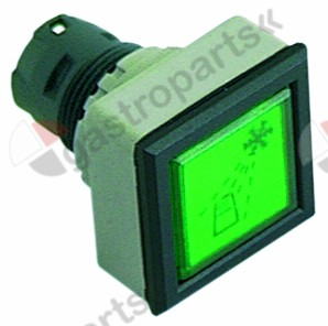 345.063, Replaced by 345931 / momentary switch unit type momentarymounting ø 24mm green cooling square