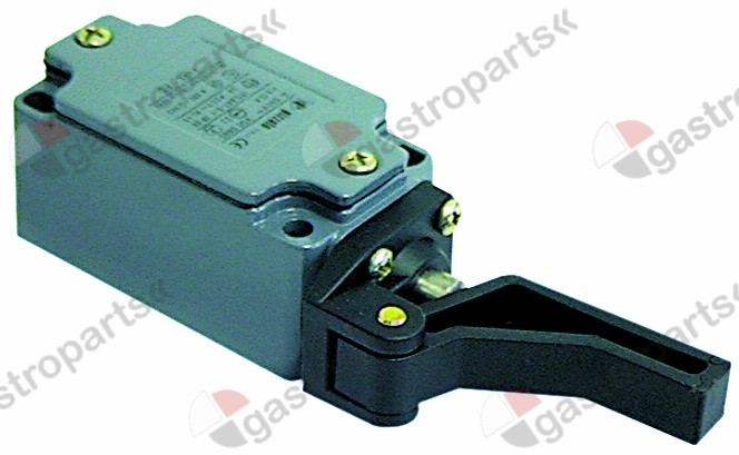 345.075, position switch cast aluminum 1NO/1NC 400V 3A L 141mm W 40mm H 35mm protection IP67