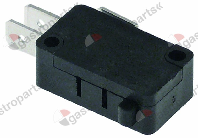 345.105, microswitch with plunger 250V 10A 1CO connection male faston 6.3mm L 28mm