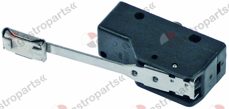 345.121, microswitch with lever 250V 16A 1CO connection screw clamp L 49mm L1 64mm