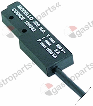 345.122, magnetic switch L 65mm W 20mm 1NO 24V 8A P max. 192W connection male faston 6.3mm