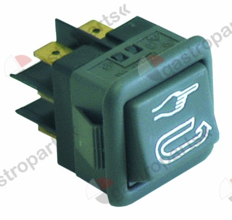 345.123, rocker switch mounting measurements 27.8x25mm black 2CO 250V 16A auto/manual