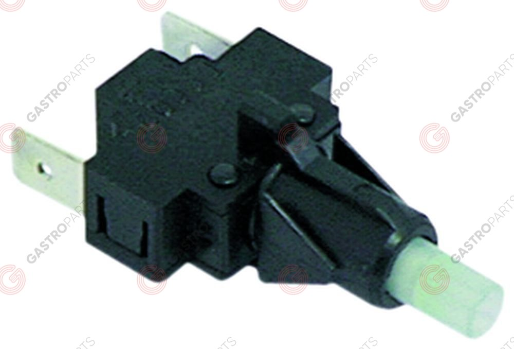 345.130, momentary switch unit 1NO 250V 16A connection male faston 6.3mm