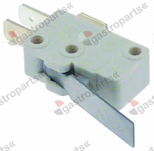 345.178, microswitch with lever 250V 16A 1CO connection male faston 6.3mm L 28mm L1 37mm