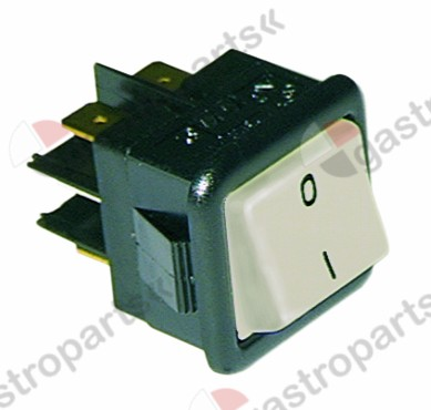 345.190, Replaced by 345002 / rocker switch mounting measurements 27.8x25mmwhite 2CO 250V 16A 0-I