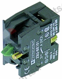 345.220, contact block EFA ZB2BE101 1NO max 230V 10(6)A black