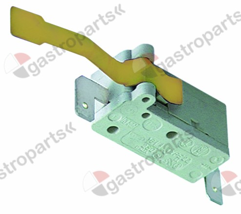 345.311, microswitch with lever 250V 16A 1NO connection male faston 6.3mm
