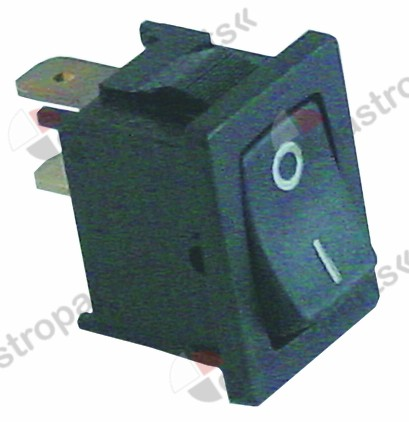 345.314, momentary rocker switch mounting measurements 19x13mm black 1NO 250V 10A