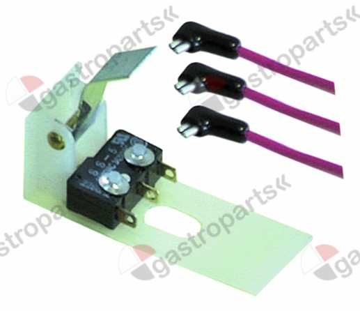 345.323, microswitch with lever 250V 10A 1CO connection male faston