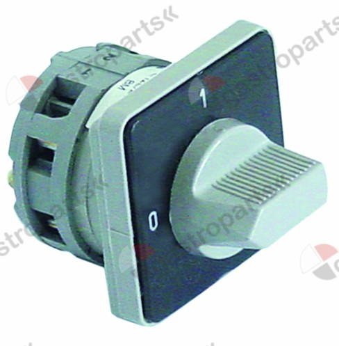 345.388, rotary switch 2 0-1 sets of contacts 2 600V 16A shaft ø 6x6mm shaft L 24mm type A2/12E/Z3/BG/X70S