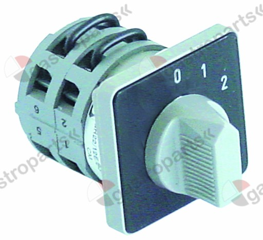 345.393, rotary switch 3 0-1-2 4 type GR22/12E/Z3/BG/X70S