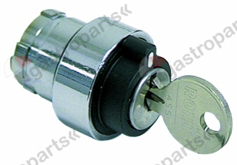 345.408, key lock switch ø 22mm latching sequence 0-1