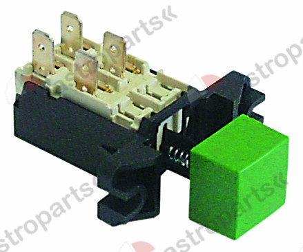 345.418, Replaced by 347406 / push switch 2NO 250V 16Aconnection male faston 6.3mm