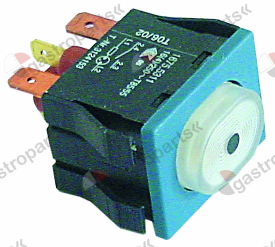 345.436, momentary push switch mounting measurements 30x22mm white