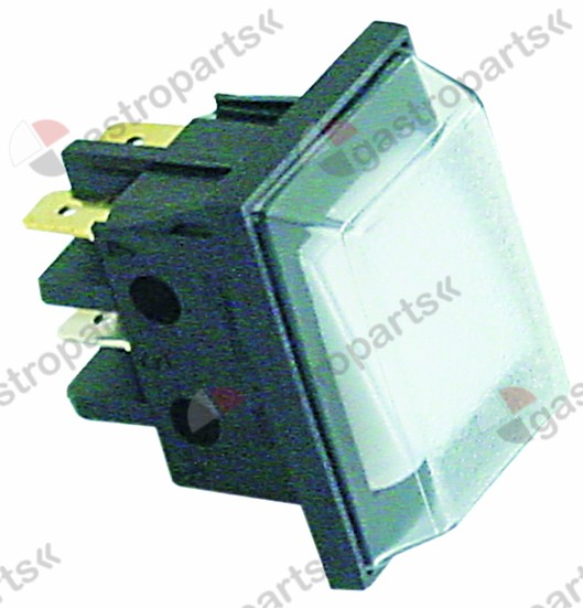 345.445, Replaced by 301036 / 301085 / momentary rocker switchmounting measurements 30x22mm clear 2NO 250V 16A