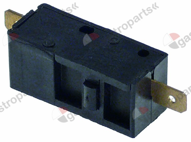 345.460, microswitch with plunger 250V 15A 1NO connection male faston 6.3mm L 37,5mm