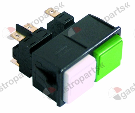 345.463, double momentary switch mounting measurements 28.5x52.6mm green/white