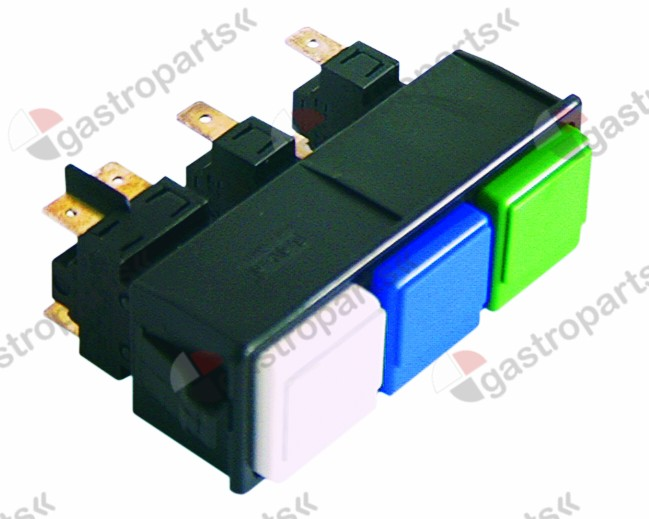 345.464, switch combination mounting measurements 28.5x77.5mm white/blue/green