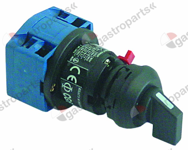 345.475, rotary switch 2 0-1 sets of contacts 1 type CH6 A290-600 FS1 400V 20A shaft ø 6x4.6mm