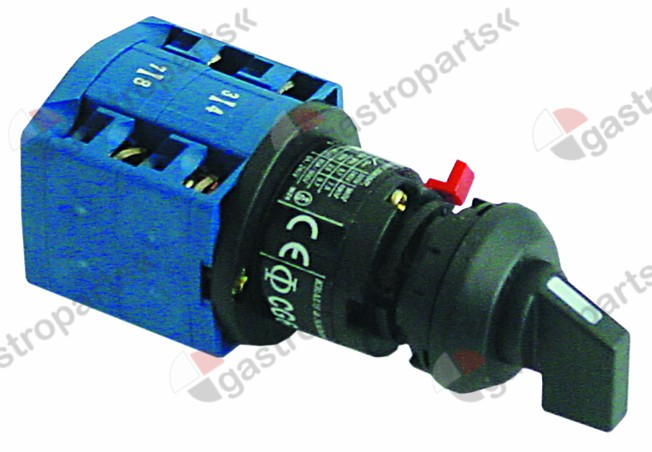 345.477, rotary switch 3 0-1-2 sets of contacts 4 400V 20A shaft ø 6x4.6mm shaft L 21mm connection screw