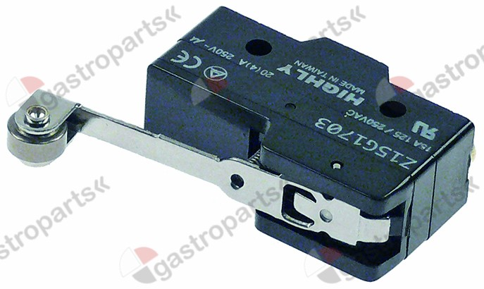 345.485, microswitch with handle with a switch 250V 20A 1C