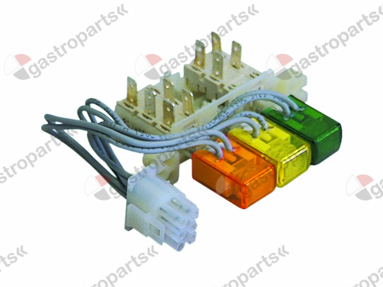 345.501, No longer available / push switch orange/green/yellow illuminatedconnection male faston 6.3mm protection IP40
