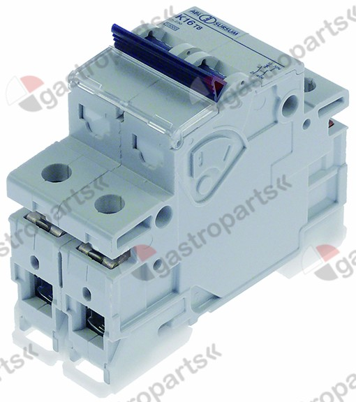 345.530, line circuit breaker 1-pole+N 16A tripping type K rated 240V connection screw mounting DIN rail
