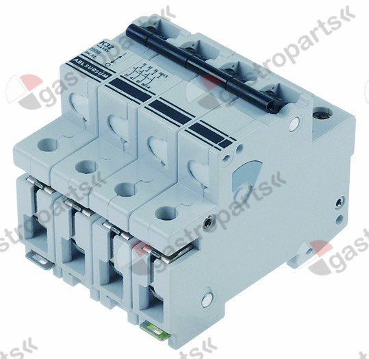 345.543, line circuit breaker 3-pole+N 32A tripping type K rated 400V