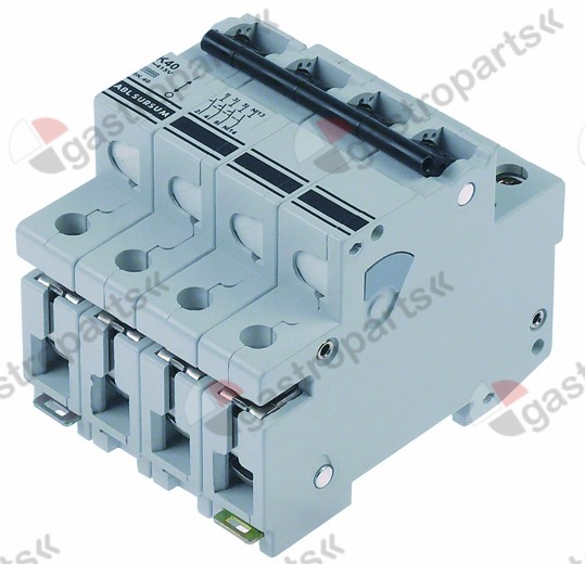 345.544, line circuit breaker 3-pole+N 40A tripping type K rated 400V
