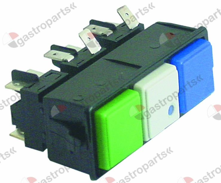 345.555, switch combination latching mounting measurements 28.5x77.5mm green/white/blue
