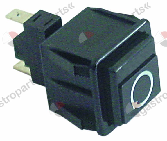 345.557, momentary push switch mounting measurements 28.5x28.5mm black 1NO 250V