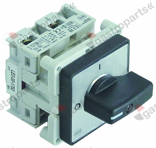 345.572, Replaced by 347618 / 347619 / rotary switch 2 0-1 sets of contacts 2type LE2-20-1752 690V 16A shaft ø 7x8mm