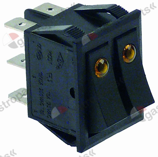 345.599, rocker switch 30x22mm orange/orange