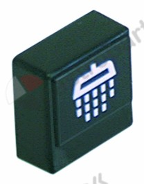 345.611, push button size 23x23mm black rinsing