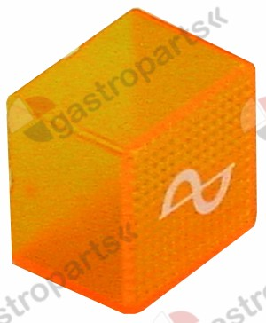 345.616, indicator light lens 23x23 orange Sinus