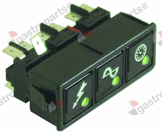 345.625, switch combination latching mounting measurements 28.5x77.5mm black